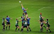 21 May 2011; Kevin McLaughlin, Leinster, goes up in a lineout. Heineken Cup Final, Leinster v Northampton Saints, Millennium Stadium, Cardiff, Wales. Picture credit: Stephen McCarthy / SPORTSFILE