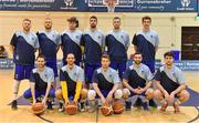 7 January 2017; The UCD Marian team ahead of the Hula Hoops Men's National Cup semi-final match between Pyrobel Killester and UCD Marian at the Neptune Stadium in Cork. Photo by Brendan Moran/Sportsfile