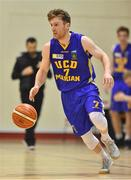 7 January 2017; Scott Kinevane of UCD Marian during the Hula Hoops Men's National Cup semi-final match between Pyrobel Killester and UCD Marian at the Neptune Stadium in Cork. Photo by Brendan Moran/Sportsfile