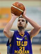 7 January 2017; Dustan Moreira of UCD Marian during the Hula Hoops Men's National Cup semi-final match between Pyrobel Killester and UCD Marian at the Neptune Stadium in Cork. Photo by Brendan Moran/Sportsfile