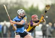 8 January 2017; John O'Toole of UCD in action against Barry Carton of Wexford during the Bord na Mona Walsh Cup Group 3 Round 1 match between Wexford and UCD at Páirc Uí Suíochan in Gorey, Co. Wexford. Photo by Ramsey Cardy/Sportsfile