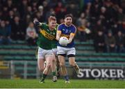 8 January 2017; Philip Austin of Tipperary in action against Brandon Barrett of Kerry during the McGrath Cup Round 1 match between Kerry and Tipperary at Austin Stack Park in Tralee, Co. Kerry. Photo by Diarmuid Greene/Sportsfile