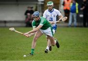 8 January 2017; Gavin O'Mahony of Limerick in action against Mark O'Brien of Waterford during the Co-Op Superstores Munster Senior Hurling League First Round match between Waterford and Limerick at Fraher Field in Dungarvan, Co. Waterford. Photo by Piaras Ó Mídheach/Sportsfile