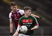 8 January 2017; Neil Douglas of Mayo in action against James Kennedy of NUIG during the Connacht FBD League Section A Round 1 match between Mayo and NUI Galway at Elvery's MacHale Park in Castlebar, Co. Mayo. Photo by David Maher/Sportsfile
