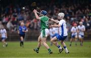 8 January 2017; Seán Tobin of Limerick in action against Kieran Bennett of Waterford during the Co-Op Superstores Munster Senior Hurling League First Round match between Waterford and Limerick at Fraher Field in Dungarvan, Co. Waterford. Photo by Piaras Ó Mídheach/Sportsfile