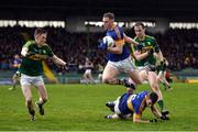 8 January 2017; Liam Treacy and Diarmuid Foley of Tipperary in action against Jason Foley, left, and Andrew Barry of Kerry during the McGrath Cup Round 1 match between Kerry and Tipperary at Austin Stack Park in Tralee, Co. Kerry. Photo by Diarmuid Greene/Sportsfile
