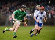 8 January 2017; Graeme Mulcahy of Limerick in action against Darragh Lyons of Waterford during the Co-Op Superstores Munster Senior Hurling League First Round match between Waterford and Limerick at Fraher Field in Dungarvan, Co. Waterford. Photo by Piaras Ó Mídheach/Sportsfile