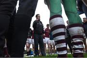 8 January 2017; NUIG manager Maurice Sheridan with members of the team at the end of the Connacht FBD League Section A Round 1 match between Mayo and NUI Galway at Elvery's MacHale Park in Castlebar, Co. Mayo. Photo by David Maher/Sportsfile