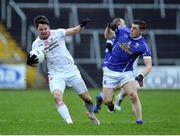 8 January 2017; Mattie Donnelly of Tyrone in action against Fergal Reilly of Cavan during the Bank of Ireland Dr. McKenna Cup Section C Round 1 match between Cavan and Tyrone at Kingspan Breffni Park in Cavan. Photo by Oliver McVeigh/Sportsfile