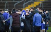 8 January 2017; Monaghan manager Malachy O'Rourke talking to his team after the Bank of Ireland Dr. McKenna Cup Section B Round 1 match between Monaghan and Fermanagh at St Tiernach's Park in Clones, Co. Monaghan. Photo by Philip Fitzpatrick/Sportsfile