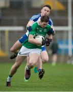 8 January 2017; Eóin Donnelly of Fermanagh in action against Fintan Kelly of Monaghan during the Bank of Ireland Dr. McKenna Cup Section B Round 1 match between Monaghan and Fermanagh at St Tiernach's Park in Clones, Co. Monaghan. Photo by Philip Fitzpatrick/Sportsfile