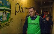 8 January 2017; Meath manager Andy McEntee makes his way out of the dressing-room ahead of the Bord na Mona O'Byrne Cup Group 3 Round 1 match between Meath and Wicklow at Páirc Táilteann in Navan, Co. Meath. Photo by Daire Brennan/Sportsfile