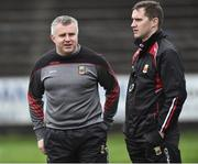 8 January 2017; Mayo Manager Stephen Rochford with selector Tony McEntee during the Connacht FBD League Section A Round 1 match between Mayo and NUI Galway at Elvery's MacHale Park in Castlebar, Co. Mayo. Photo by David Maher/Sportsfile