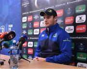 9 January 2017; Robbie Henshaw of Leinster during a press conference at UCD in Belfield, Dublin. Photo by Matt Browne/Sportsfile