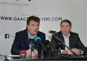 9 January 2017; Declan Brennan, Secretary CPA, left, and Micheal Briody Chairman CPA,  at the official launch of the Club Players Association at Ballyboden St Enda's GAA in Firhouse Rd, Ballyroan, Dublin. The CPA are calling for all GAA Club members to register at www.gaaclubplayers.com to help 'Fix The Fixtures'. Photo by Piaras Ó Mídheach/Sportsfile