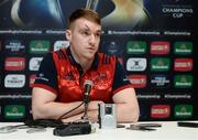 9 January 2017; Rory Scannell of Munster speaking during a press conference at University of Limerick in Limerick. Photo by Diarmuid Greene/Sportsfile