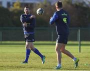 9 January 2017; Rob Kearney and Ross Byrne of Leinster during squad training at UCD in Belfield, Dublin. Photo by Matt Browne/Sportsfile