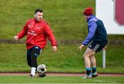 9 January 2017; Dave Kilcoyne and Greg O'Shea of Munster playing with a soccer ball during squad training at University of Limerick in Limerick. Photo by Diarmuid Greene/Sportsfile