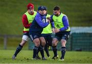 9 January 2017; Te Aihe Toma of Munster in action against CJ Stander and Jaco Taute during squad training at University of Limerick in Limerick. Photo by Diarmuid Greene/Sportsfile