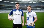 10 January 2017; Monaghan footballer Conor McManus and Waterford hurler Noel Connors in attendance at the GAA and GPA launch of the ESRI Research Project at Croke Park in Dublin. Photo by Sam Barnes/Sportsfile
