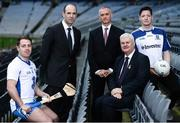 10 January 2017; In attendance at the GAA and GPA launch of the ESRI Research Project at Croke Park in Dublin are, from left, Waterford hurler Noel Connors, GPA President Dermot Earley, ERSI Director Alan Barrett, Uachtarán Chumann Lúthchleas Aogán Ó Fearghail and Monaghan footballer Conor McManus. Photo by Sam Barnes/Sportsfile