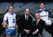 10 January 2017; In attendance at the GAA and GPA launch of the ESRI Research Project at Croke Park in Dublin are, from left, Waterford hurler Noel Connors, GPA President Dermot Earley, ERSI Director Alan Barrett and Monaghan footballer Conor McManus. Photo by Sam Barnes/Sportsfile