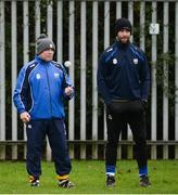 8 January 2017; Waterford manager Derek McGrath, left, and selector Dan Shanahan prior to the Co-Op Superstores Munster Senior Hurling League First Round match between Waterford and Limerick at Fraher Field in Dungarvan, Co. Waterford. Photo by Piaras Ó Mídheach/Sportsfile