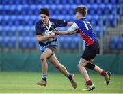 10 January 2017; Leon Gallagher of Newpark Comprehsive in action against Kevin Elwood of Templeogue College during the Bank of Ireland Fr Godfrey Cup Round 1 match between Newpark Comprehensive and Templeogue College at Donnybrook Stadium in Donnybrook, Dublin. Photo by Cody Glenn/Sportsfile