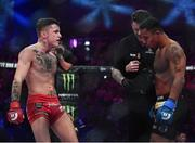 16 December 2016; James Gallagher, left, and Anthony Taylor ahead of their featherweight bout at Bellator169 in the 3 Arena in Dublin. Photo by Ramsey Cardy/Sportsfile