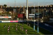 10 January 2017; Templeogue College players warm up ahead of the Bank of Ireland Fr Godfrey Cup Round 1 match between Newpark Comprehensive and Templeogue College at Donnybrook Stadium in Donnybrook, Dublin. Photo by Cody Glenn/Sportsfile
