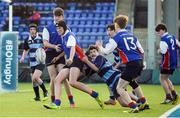 10 January 2017; James Boland of Templeogue College is tackled by Jose Considine Esquivel Faria of Newpark Comprehensive during the Bank of Ireland Fr Godfrey Cup Round 1 match between Newpark Comprehensive and Templeogue College at Donnybrook Stadium in Donnybrook, Dublin. Photo by Cody Glenn/Sportsfile