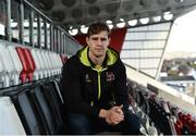 11 January 2017; Andrew Trimble of Ulster during a press conference at Kingspan Stadium in Belfast. Photo by Oliver McVeigh/Sportsfile