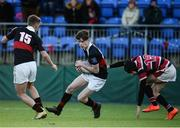 11 January 2017; Adam Rufli of The High School in action against William Hayden of Wesley College during the Bank of Ireland Vinnie Murray Cup Round 1 match between The High School and Wesley College at Donnybrook Stadium in Donnybrook, Dublin. Photo by Sam Barnes/Sportsfile