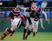 11 January 2017; Adam Rufli of The High School in action against Adam Culbert of Wesley College during the Bank of Ireland Vinnie Murray Cup Round 1 match between The High School and Wesley College at Donnybrook Stadium in Donnybrook, Dublin. Photo by Sam Barnes/Sportsfile