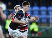 11 January 2017; David Donnelly of The Highschool in action against Ross Henderson of Wesley College during the Bank of Ireland Vinnie Murray Cup Round 1 match between The High School and Wesley College at Donnybrook Stadium in Donnybrook, Dublin. Photo by Sam Barnes/Sportsfile
