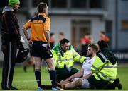 11 January 2017; Ben Brady of Presentation College Bray recieves treatment from medical staff during the Bank of Ireland Vinnie Murray Cup Round 1 match between Presentation College Bray and CBC Monkstown Park at Donnybrook Stadium in Donnybrook, Dublin. Photo by Sam Barnes/Sportsfile