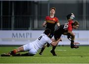 11 January 2017; Conor Newman of CBC Monkstown is tackled by Sean Daly of Presentation College Bray during the Bank of Ireland Vinnie Murray Cup Round 1 match between Presentation College Bray and CBC Monkstown Park at Donnybrook Stadium in Donnybrook, Dublin. Photo by Sam Barnes/Sportsfile