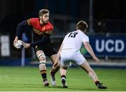 11 January 2017; Darragh Foster of CBC Monkstown in action against Scott Howard of Presentation College Bray during the Bank of Ireland Vinnie Murray Cup Round 1 match between Presentation College Bray and CBC Monkstown Park at Donnybrook Stadium in Donnybrook, Dublin. Photo by Sam Barnes/Sportsfile
