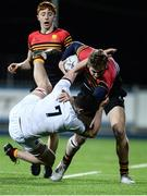 11 January 2017; Darragh Foster of CBC Monkstown in action against Joe McLaughlin of Presentation College Bray during the Bank of Ireland Vinnie Murray Cup Round 1 match between Presentation College Bray and CBC Monkstown Park at Donnybrook Stadium in Donnybrook, Dublin. Photo by Sam Barnes/Sportsfile