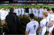 11 January 2017; Presentation College Bray hold a team talk following the Bank of Ireland Vinnie Murray Cup Round 1 match between Presentation College Bray and CBC Monkstown Park at Donnybrook Stadium in Donnybrook, Dublin. Photo by Sam Barnes/Sportsfile