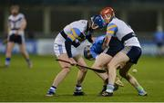 11 January 2017; Cian O'Sullivan of Dublin in action against Rory Dwan, left, and Tadhg de Búrca of UCD during the Bord na Mona Walsh Cup Group 3 Round 2 match between Dublin and UCD at Parnell Park, Dublin. Photo by Piaras Ó Mídheach/Sportsfile