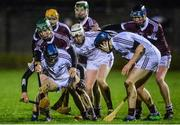 12 January 2017: Sean Loftus of Galway in action against Ian Fox of NUI Galway, left, battle for the ball during the Bord na Mona Walsh Cup Group 1 Round 2 match between Galway and NUI Galway at Duggan park, Ballinasloe in Co Galway. Photo by Seb Daly/Sportsfile