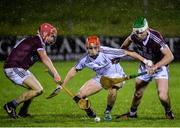 12 January 2017: Jack Grealish of Galway, centre, in action against Stephen Hynes, left, and Aiden Helebert of NUI Galway during the Bord na Mona Walsh Cup Group 1 Round 2 match between Galway and NUI Galway at Duggan park, Ballinasloe in Co Galway. Photo by Seb Daly/Sportsfile