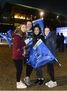 13 January 2017; Leinster supporters, from left, Sinead Conway, Aoife Conlan, Alex Davis and Aideen Conway, from Wicklow ahead of the European Rugby Champions Cup Pool 4 Round 5 match between Leinster and Montpellier at the RDS Arena in Dublin. Photo by Ramsey Cardy/Sportsfile