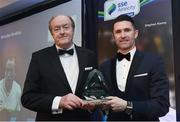 13 January 2017; Former Republic of Ireland International Robbie Keane, and all time record International goalscorer for the Republic of Ireland, with Brendan Bradley, all time League of Ireland record goalscorer, during the SSE Airtricity Soccer Writers' Association of Ireland Awards 2016 at the Conrad Hotel in Dublin. Photo by David Maher/Sportsfile