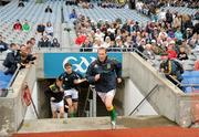 5 June 2011; Graham Geraghty runs out as he makes his return to the Meath squad for today's game. Leinster GAA Football Senior Championship Quarter-Final, Kildare v Meath, Croke Park, Dublin. Picture credit: Ray McManus / SPORTSFILE