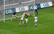 5 June 2011; Graham Geraghty, 25, Meath, scores a goal for his side which was subsequently disallowed by referee Syl Doyle. Leinster GAA Football Senior Championship Quarter-Final, Kildare v Meath, Croke Park, Dublin. Picture credit: Brendan Moran / SPORTSFILE