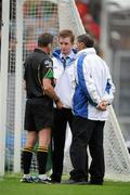 5 June 2011; Referee Syl Doyle consults with his umpires before disallowing a goal scored for Meath by Graham Geraghty. Leinster GAA Football Senior Championship Quarter-Final, Kildare v Meath, Croke Park, Dublin. Picture credit: Ray McManus / SPORTSFILE