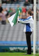 5 June 2011; An umpire indicates that a goal punched to the back of the Kildare net, by Graham Geraghty, had been disallowed by the referee. Leinster GAA Football Senior Championship Quarter-Final, Kildare v Meath, Croke Park, Dublin. Picture credit: Ray McManus / SPORTSFILE