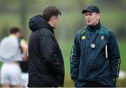 15 January 2017; Leitrim selector John O'Mahony, left, and manager Brendan Guckian, right, ahead of the Connacht FBD League Section B Round 2 match between Leitrim and Galway at Sean O'Heslin Park in Ballinamore, Co Leitrim. Photo by Seb Daly/Sportsfile